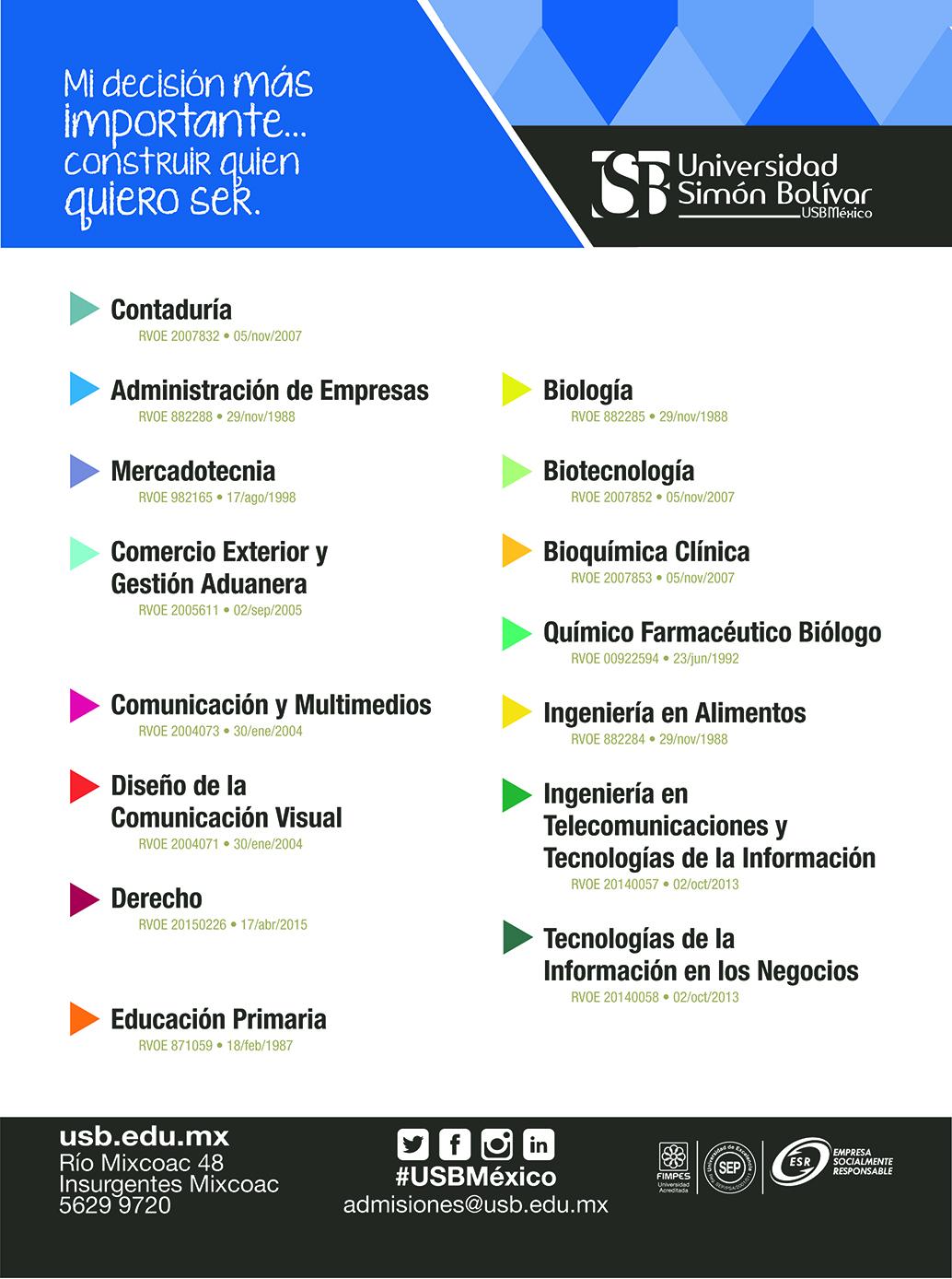Universidad Simón Bolívar Revista Juventud'es